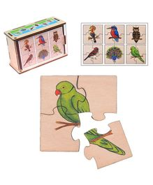 RK Cart Plywood Bird Jigsaw Puzzle Multicolor - 24 Pieces