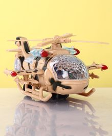 Battery Operated Falcon Helicopter With Lights & Music - Beige