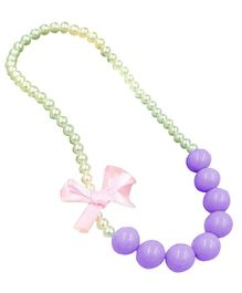 Bembika Baby Pearl Necklace - Purple