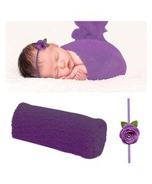 Bembika Ripple Stretch Wrap & Headband Photo Props Set - Violet