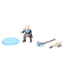 Fortnite Battle Royale Collection Ragnarok Action Figure With Weapons Blue Grey - Height 5 cm