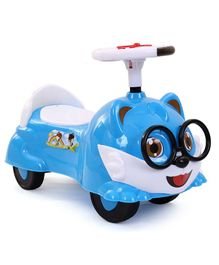 HappyKids Manual Push Ride-on With Lights & Music - Blue