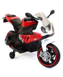 HappyKids Battery Operated Super Bike With Trainer Wheels - Red