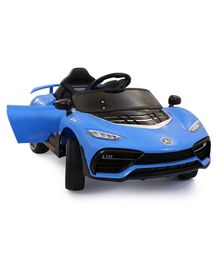 HappyKids Battery Operated Super Ride On Car with Dual Battery & Motor - Blue
