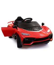 HappyKids Battery Operated Super Ride On Car with Dual Battery & Motor - Red