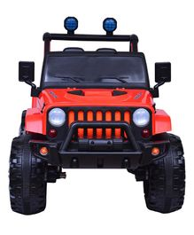 HappyKids 12V Ride On Jeep With Remote & Charger - Red
