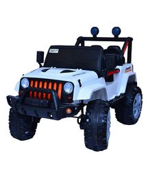 HappyKids 12V Ride On Jeep With Remote & Charger - White