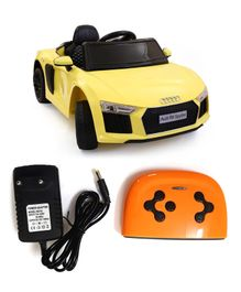 HappyKids Battery Operated Ride On Car With Remote Control - Yellow Black