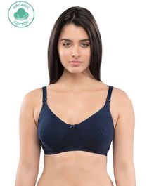 Inner Sense Solid Sleeveless Nursing Bra - Navy Blue