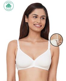 Inner Sense Solid Sleeveless Nursing Bra - White