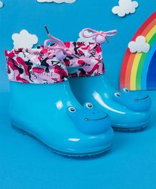 Little Maira Frog Face Rain Boots - Blue