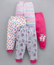 Mini Donuts Multi Printed Lounge Pants Pack of 4 - Pink