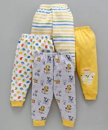 Mini Donuts Multi Printed Lounge Pants Pack of 4 - Yellow