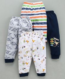 Mini Donuts Full Length Multi Print Lounge Pants Set of 4 - Navy Blue