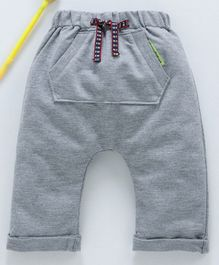 marshmallows Full Length Diaper Leggings - Grey