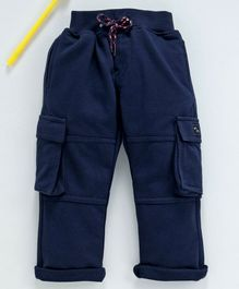 Marshmallows Full Length Cargo Track Pants - Navy Blue