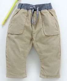 marshmallows Full Length Ribbed Corduroy Trousers - Fawn