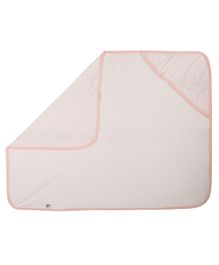 Lula Single Ply Hooded Cotton Baby Blanket Heart Print - Pink