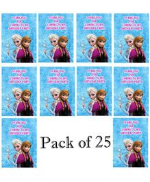 Funcart Disney Frozen Birthday Party Thank You Cards Blue - Pack of 25