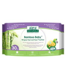 Aleva Naturals Bamboo Baby Wipes - 30 Pieces