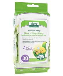 Aleva Naturals Bamboo Nose N Blows Wipes - 30 Pieces
