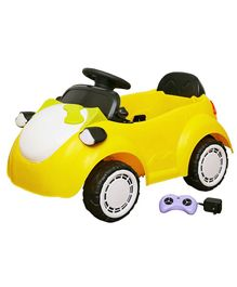 Wheel Power Baby Battery Operated Ride On Kitty Car - Yellow