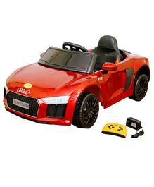 Wheel Power Battery Operated Ride On Audi Car - Red