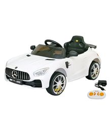 Wheel Power Baby Battery Operated Ride On Mercedes Car - White