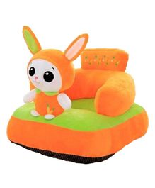 Babymoon Plush Sofa Chair With Bunny Toy - Orange