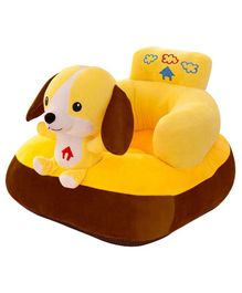 Babymoon Plush Couch With Puppy Toy - Yellow
