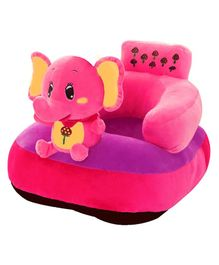 Babymoon Plush Sofa Chair With Elephant Toy - Pink