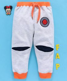 Babyhug Full Length Lounge Pant Basket Ball Patch - Grey