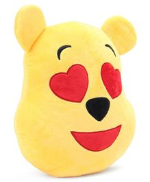 Pooh In Love Emoji Face Plush Yellow - 13 Inches