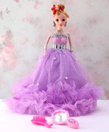 Awals Priyanka Doll Purple - Height 29.5 cm