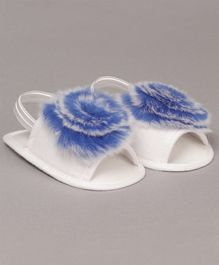 Daizy Faux Fur Booties - Blue