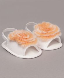 Daizy Faux Fur Booties - Orange
