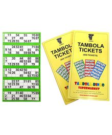 Bingo - Tambola Tickets With Green Border