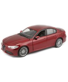 Bburago Alfa Romeo Giulia Die Cast Toy Car - Red
