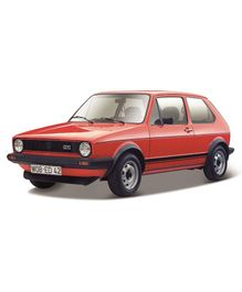Bburago Volkswagon Golf MK1 GTI Die Cast Toy Car - Red