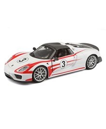 Bburago Porsche 918 Weissach Die Cast Car - White