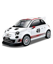 Bburago Abarth 500 Assetto Corse Die Cast Car - White