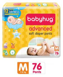 Babyhug Advanced Pant Style Diapers Medium - 76 Pieces
