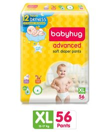 Babyhug Advanced Pant Style Diapers Extra Large - 56 Pieces