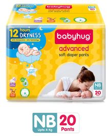 Babyhug Advanced Pant Style Diapers New Born - 20 Pieces