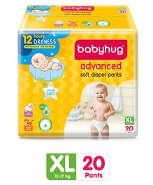 Babyhug Advanced Pant Style Diapers Extra Large - 20 Pieces