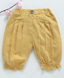 Lekeer Kids Full Length Harem Pants - Yellow