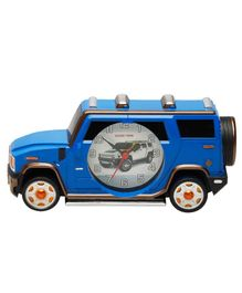 EZ Life Car Shaped Desk Clock With Photo Frame - Blue