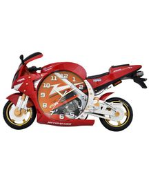EZ Life Racing Bike Shaped Wall Clock - Red