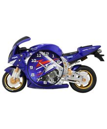 EZ Life Racing Bike Shaped Wall Clock - Blue