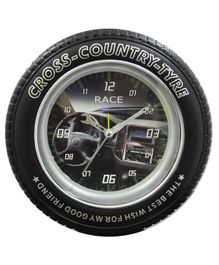 EZ Life Cross Country Tyre Desk Clock - Black
